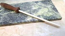 Walnut Handle Knife Sharpener Ceramic Rod Stick Sharpening Steel