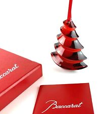 Baccarat Tree Ornament Red In Box Mint Condition!!