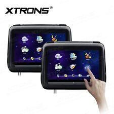 "2pcs 10.1""HD Touch Screen Car Headrest DVD Player 1080P Video HDMI USB SD Black"
