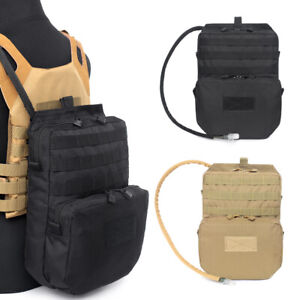 Tactical Molle Vest Hydration Backpack Pouch Outdoor Sports Hiking Water Bag 3L
