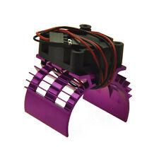 Alloy Heat Sink for 540 550 Motor DC 5V Cooler Fan Purple for 1:10 RC Model Car