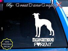 Italian Greyhound PARENT(S) - Vinyl Decal Sticker / Color Choice - HIGH QUALITY