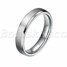 Men Women Couples Silver Tone Titanium Ring Promise Wedding Band Valentines Gift