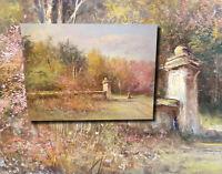 Spätsommer im Schlosspark. Herrliches impressionistisches Ölgemälde, ERIKA PANTL