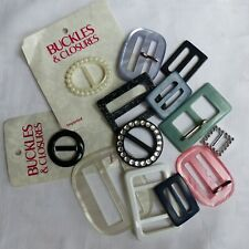GOOD LOT OF PRETTY  BELT BUCKLES -ASSORTED COLOURS & SIZES