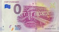 BILLET 0  EURO FORT D'UXEGNEY FRANCE   2019  NUMERO 1000