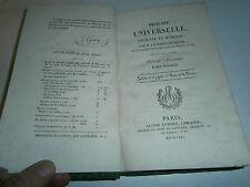Histoire universelle ancienne et moderne comte de Ségur 1821 Egypte Asie Perse