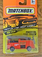 Matchbox #63 Snorkel Fire Truck Get In The Fast Lane Series