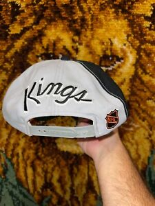Vtg Los Angeles Kings Sports Specialties Back Script Snapback Hat
