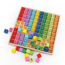 Toys Montessori Educational Wooden Multiplication Table Math Arithmetic Teaching