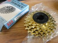 NOS Bicycle Sprocket Suntour Gold Pro Compe FreeWheel 1/2 by 3/32 5 Speed 14-24