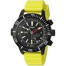 Timex T2N958 Mens Intelligent Quartz Adventure Series Watch Yellow Resin Strap