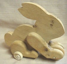 Handmade Wooden Bunny Rabbit Toy