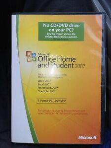 Microsoft Office 2007 Home Student 3-User DVD Word Excel Powerpoint