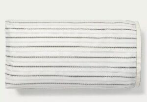 Ralph Lauren Taylor Stripe Cotton 200 Thread 2 Pillowcases Shams Cream/Charcoal
