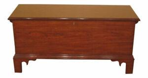 L52801E: HENKEL HARRIS Chippendale Style Model #300 Cherry Blanket Chest ~ NEW
