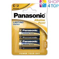 2 PANASONIC ALKALINE POWER C LR14 BATTERIES BLISTER 1.5V BABY R14 MN1400 AM2 E93
