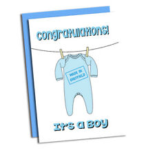 It's a Boy! Made in Sheffield New Born Baby card. Congratulations!