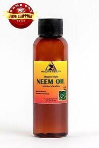 NEEM OIL ORGANIC UNREFINED CONCENTRATE VIRGIN COLD PRESSED RAW PURE 2 OZ