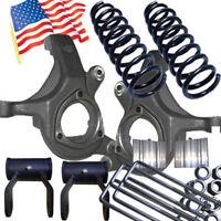 "4x4 2/"" Rear Blocks Square U//bolts hardware 99-11 Ford F350 DANA rearend ONLY"
