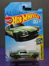 2018 HOT WHEELS '70 CAMARO New HW SPEED GRAPHICS Green Camaro 7/10. Long card.