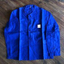 """NOS Vintage French Chore/Work Jacket 50"""" Chest Bleu de Travail Sanfor France 70s"""