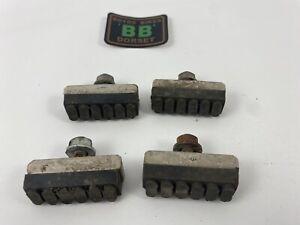 USED Dia Compe Brake Pads Black '4 Dot' 2 x pair - Old School BMX - MX DC 1020