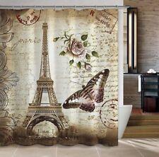 Shower Curtain Paris Eiffel Tower Print Bathroom Decor Home Decor Free Shipping