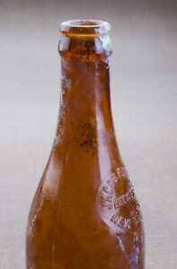 Amber Jacob Ruppert Crown Top Bottle Former NY Yankees Owner