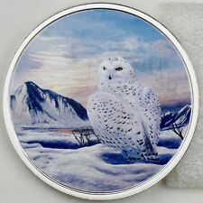 2018 $20 Arctic Animals: Snowy Owl 2 oz Pure Silver Glow-in-the-Dark Color Proof