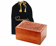 Tree of Life Hand-Carved Wood Urn with Free Bag - Extra Large Wood Urn