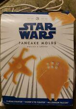Williams Sonoma Star Wars Pancake Molds X-WING & TIE FIGHTER MILLENNIUM FALCON