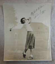 VINTAGE LOUISE SUGGS AUTO SIGNED 8 x 10 PHOTO LPGA FOUNDER COA IS FROM JSA GOLF