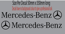 Mercedes Benz  Side Skirt Stickers Car Decals Gloss Black  left and right Merc