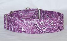 "2"" Martingale Dog Collar Bright Purple Paisley"