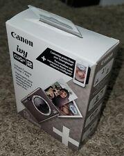 Canon Ivy Cliq+2 Instant Camera Printer+App - Metallic Mocha Brand New Sealed !!