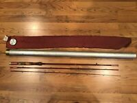 Vintage Silaflex Medallion  Blank F-85  3 pieces FLYFISHING Rod ,Tube And Sock