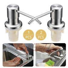 1/2Pcs Kitchen Sink Soap Dispenser Stainless Steel Dish Soap Dispenser 350Ml