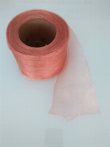 Pure Copper Knitted Soffit Mesh -10cm Wide - 2 Metres Long. Stop rodents, birds.