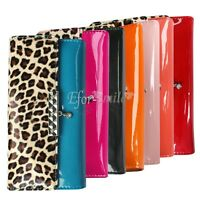 Leopard Card Long Lady Purse Women's Clutch PU Leather Wallet Gift Bag 7 Colors