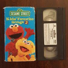 Sesame Street Kids' Favorite Songs 2 VHS Elmo Video Childrens VCR Tape Rare GUC
