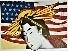 """LARRY RIVERS Met Opera ORIGINAL CRAYON SIGNED MIXED MEDIA """"68/250"""" M. Butterfly"""
