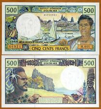 French Pacific Territories,  500 Francs ND (1992) P-1e, UNC