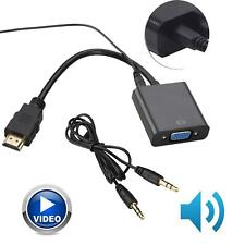 1080P 3.5mm video HDMI a VGA Conversor Adaptador de Cable de audio para PC DVD PS4 Xbox