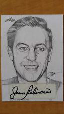 2015 Leaf JEAN BELIVEAU Hand drawn Autographed sketch card 1/1