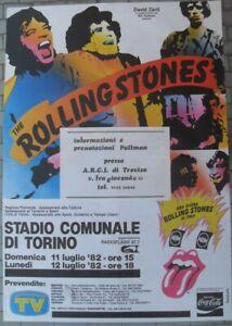 POSTER MANIFESTO ROLLING STONES STADIO COMUNALE DI TORINO 11-12 LUGLIO 1982