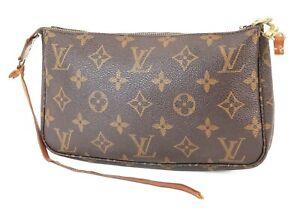 Authentic LOUIS VUITTON Accessory Pochette Monogram Clutch Bag #39301