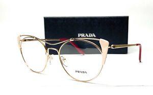 PRADA VPR 58V YDD-1O1 Gold Ivory Demo Lens Women's Eyeglasses 51mm
