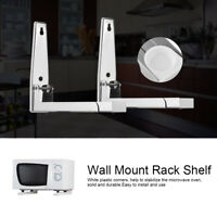 2x Kitchen Stainless Steel Foldable Microwave Oven Wall Mount Bracket Shelf Rack