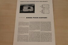 175276) Eriba Puck Export - Camping Journal Sonderdruck 196?